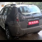 Rear three quarter of the Nissan Terrano test mule