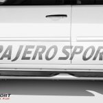 Side sticker of the Mitsubishi Pajero Sport Anniversary Edition