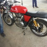 Side view of the Royal Enfield Continental GT spied