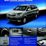 Toyota Innova Chrome Edition launched in india