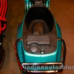 Under seat storage space of the Vespa VX 125