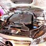 engine bay of the 2014 Mercedes E Class