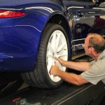 20-inch alloy wheels of the Porsche 911 Carrera 5 Million Car
