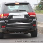 2013 Jeep Grand Cherokee spied India rear fascia