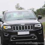 2013 and 2014 Jeep Grand Cherokee spied India front fascia