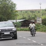 2013 and 2014 Jeep Grand Cherokee spied India front