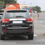 2013 and 2014 Jeep Grand Cherokee spied India rear