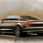 2014 Audi A8 Facelift rear three quarter