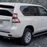 2014 Toyota Land Cruiser Prado rear three quarter