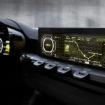 Centre console display of the Kia Niro Concept