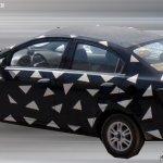 Chevrolet Sail sedan facelift spied rear three quarter