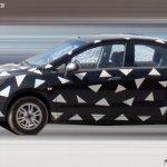 Chevrolet Sail sedan facelift spied side