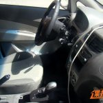 Chevrolet Sail sedan facelift spied steering wheel