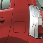 Chrome accented taillamps of the Maruti Wagon R Stingray