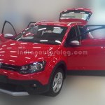 Front three quarter of the VW Cross Polo