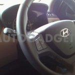 Hyundai Grand i10 spied steering wheel