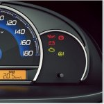 Instrument cluster of the Maruti Wagon R Stingray