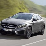 Mercedes GLA front three quarter