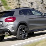 Mercedes GLA rear three quarter