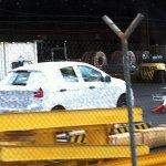 Next generation Ford Figo spied rear three quarter