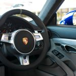 Steering wheel of the Porsche 911 Carrera 4S 5 Million Car