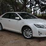 Toyota Camry Hybrid front three quarters