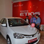 Toyota Etios launched in Nepal front three quarter