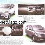 Toyota Innova facelift brochure 2
