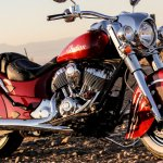 front three quarter angle of the 2014 Indian Chief