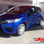 2014 Honda Fit blue front quarter