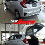 2014 Honda Fit silver boot open