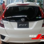 2014 Honda Fit white rear