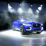Front right three quarter of the Jaguar CX-17 Concept
