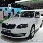 Front three quarter of the 2014 Skoda Octavia GreenLine