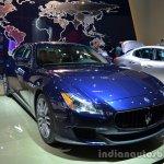 Front three quarter of the Maserati Quattraporte diesel