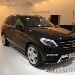 Front three quarter of the Mercedes M-Guard armoured SUV