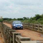 Honda Amaze on a bridge