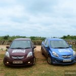 Honda Amaze red and blue front