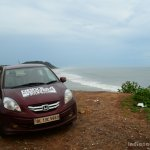 Honda Amaze red drive to discover