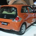 Honda Brio Satya rear three quarter