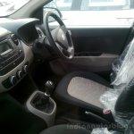 Hyundai Grand i10 demo car front seats