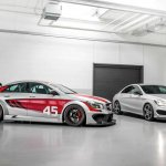 Mercedes CLA 45 AMG Racing Series and CLA 250 Sports front