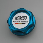 Mugen blue radiator cap for 2014 Honda Jazz