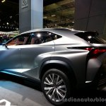 Rear left three quarter of the Lexus LF-NX Concept