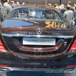 Rear of the Mercedes S Class INTELLIGENT DRIVE