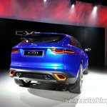 Rear right three quarter of the Jaguar CX-17 Concept