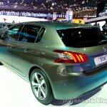 Rear three quarter of the 2014 Peugeot 308