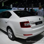 Rear three quarter of the 2014 Skoda Octavia GreenLine