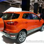 Rear three quarter of the Ford EcoSport