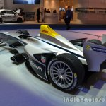 Rear three quarter of the Spark Renault SRT_01E Formula E racer